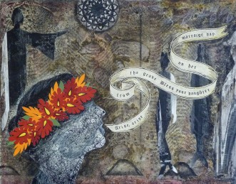 "Call for the Wedding Day Blessing, mixed media, 8"" x 10"", Sold"