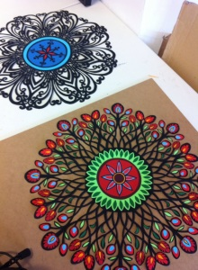 Mandalas in progress_wind and earth